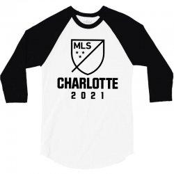 charlotte mls 2021 dark style 3/4 Sleeve Shirt | Artistshot