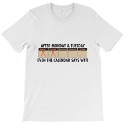 after monday and tuesday T-Shirt | Artistshot