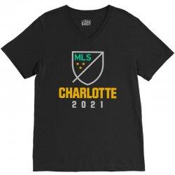 charlotte mls 2021 V-Neck Tee | Artistshot