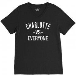 charlotte vs everyone north carolina V-Neck Tee | Artistshot