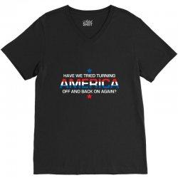 america off V-Neck Tee | Artistshot