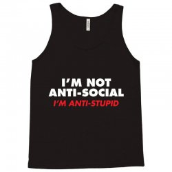 anti stupid Tank Top | Artistshot