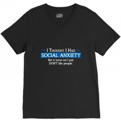 anxiety people V-Neck Tee | Artistshot