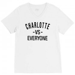 charlotte vs everyone V-Neck Tee | Artistshot