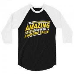 awesome sauce 3/4 Sleeve Shirt   Artistshot
