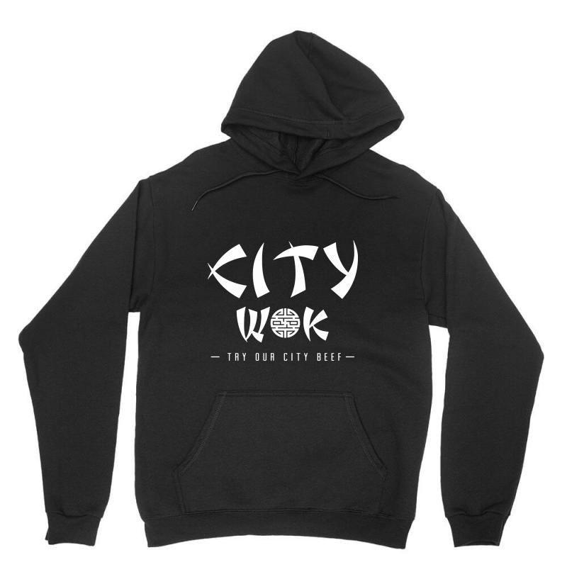 City Wok On White Unisex Hoodie | Artistshot