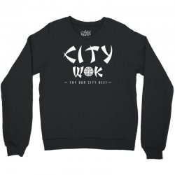 city wok on white Crewneck Sweatshirt | Artistshot