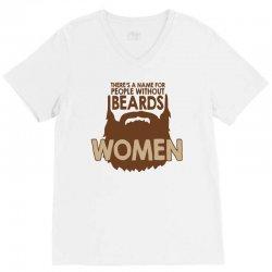 beard women V-Neck Tee | Artistshot