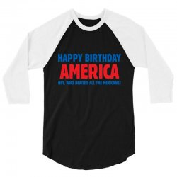 birthday usa 3/4 Sleeve Shirt | Artistshot