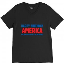 birthday usa V-Neck Tee | Artistshot
