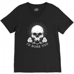 i'd bone you V-Neck Tee | Artistshot