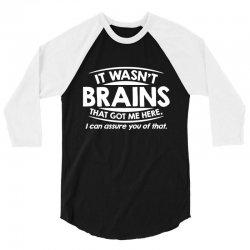 brains here 3/4 Sleeve Shirt   Artistshot
