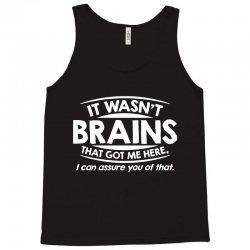 brains here Tank Top   Artistshot