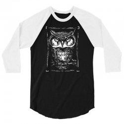 owl white 3/4 Sleeve Shirt | Artistshot