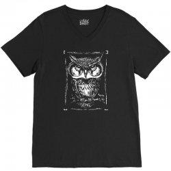 owl white V-Neck Tee | Artistshot