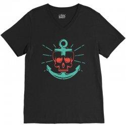 skull anchor V-Neck Tee | Artistshot