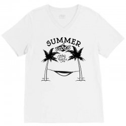 summer vibes only V-Neck Tee | Artistshot