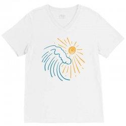 sun and wave V-Neck Tee | Artistshot