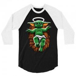 funny baby yoda  christmas 3/4 Sleeve Shirt | Artistshot