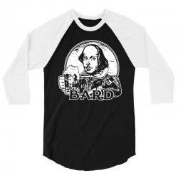 william shakespeare t shirt funny beer t shirt poetry bard t shirt 3/4 Sleeve Shirt | Artistshot
