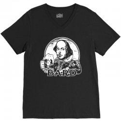 william shakespeare t shirt funny beer t shirt poetry bard t shirt V-Neck Tee | Artistshot
