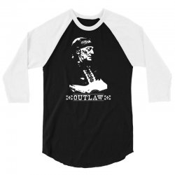 willie nelson t shirt vintage country music t shirts outlaw willie nel 3/4 Sleeve Shirt   Artistshot