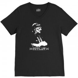 willie nelson t shirt vintage country music t shirts outlaw willie nel V-Neck Tee   Artistshot