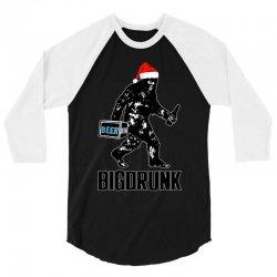 funny big drunk christmas party 3/4 Sleeve Shirt | Artistshot