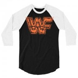 wwf t shirt wwf wrestling shirt vintage wrestling shirt 80s wrestling 3/4 Sleeve Shirt   Artistshot