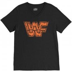 wwf t shirt wwf wrestling shirt vintage wrestling shirt 80s wrestling V-Neck Tee   Artistshot