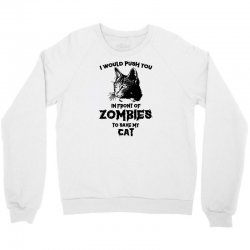 zombie cat funny halloween humor dead walker kitten animal Crewneck Sweatshirt | Artistshot