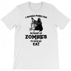 zombie cat funny halloween humor dead walker kitten animal T-Shirt | Artistshot