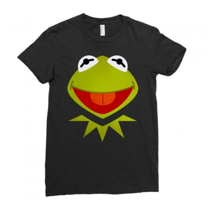 Funny Kermit Illustration Ladies Fitted T-shirt Designed By Rosdiana Tees