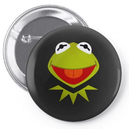 Funny Kermit Illustration Pin-back Button Designed By Rosdiana Tees