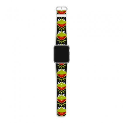 Funny Kermit Illustration Apple Watch Band Designed By Rosdiana Tees