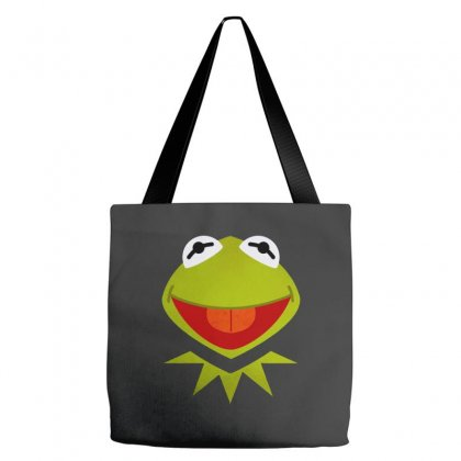 Funny Kermit Illustration Tote Bags Designed By Rosdiana Tees
