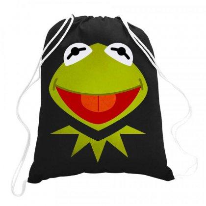 Funny Kermit Illustration Drawstring Bags Designed By Rosdiana Tees
