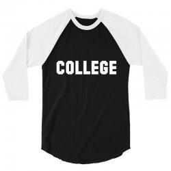 college 3/4 Sleeve Shirt | Artistshot