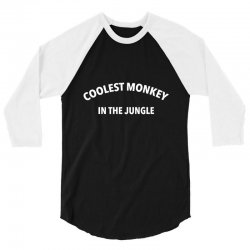 coolest monkey 3/4 Sleeve Shirt | Artistshot