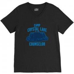 crystal lake 1 V-Neck Tee   Artistshot
