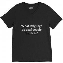 deaf think V-Neck Tee   Artistshot
