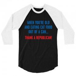 dem cat food 3/4 Sleeve Shirt | Artistshot