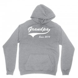 Grandpa since 2014 Unisex Hoodie   Artistshot