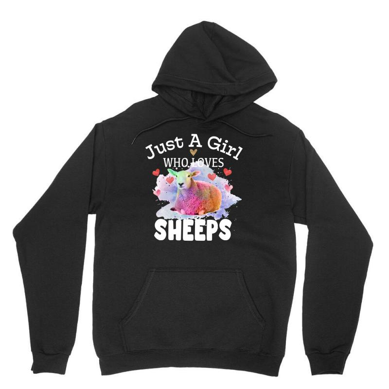 Just A Girl Who Loves Sheeps For Dark Unisex Hoodie | Artistshot