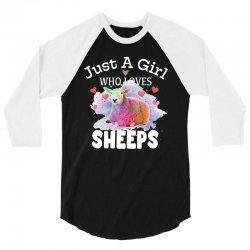just a girl who loves sheeps for dark 3/4 Sleeve Shirt | Artistshot