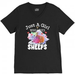 just a girl who loves sheeps for dark V-Neck Tee | Artistshot
