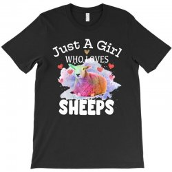 just a girl who loves sheeps for dark T-Shirt | Artistshot
