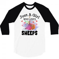 just a girl who loves sheeps for light 3/4 Sleeve Shirt | Artistshot