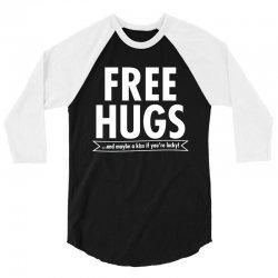 free hugs 3/4 Sleeve Shirt   Artistshot