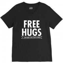 free hugs V-Neck Tee   Artistshot